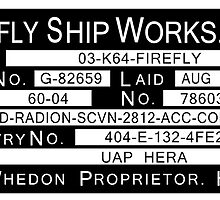 Firefly Ship Works Ltd. Sticker by Jacob Thomas