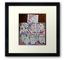 more cartoons Framed Print