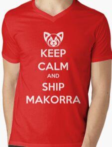 Keep Calm and Ship Makorra! Mens V-Neck T-Shirt