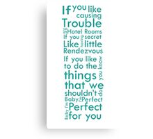 One Direction Perfect Quote Canvas Print