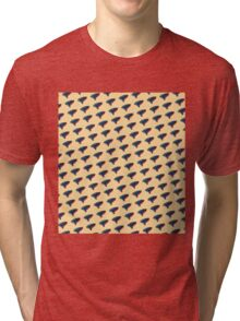 Pop Art Ocarina Tilted Pattern Tri-blend T-Shirt