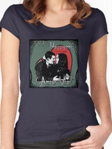 """Un Fou, Passionné, l'Amour Vrai!""- One Crazy, Passionate, True Love! (green) Women's Fitted Scoop T-Shirt"