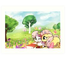 A picnic for two Art Print