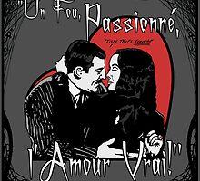 """Un Fou, Passionné, l'Amour Vrai!""- One Crazy, Passionate, True Love! (grey) by torg"