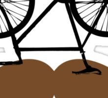 Hipster Bike Mustache  Sticker