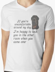 If You Are Uncomfortable Around My Dog Mens V-Neck T-Shirt
