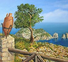 Monte Solaro on island Capri by kirilart