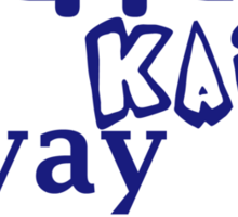 Yippie Kai Yay | Blue Tee Sticker