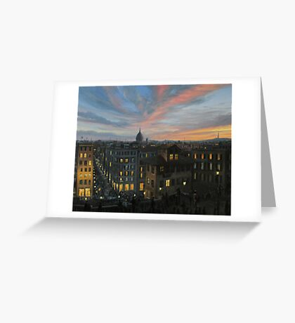 Rome in The Light of Sunset Greeting Card