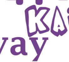 Yippie Kai Yay   Purple Tee Sticker