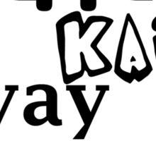 Yippie Kai Yay | Black Tee Sticker
