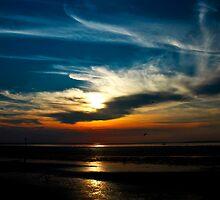 Sunset at the seaside, Hunstanton, Norfolk, United Kingdom by Magdalena Warmuz-Dent