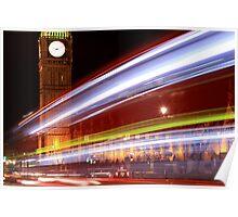 London - Big Ben - Streaks Poster