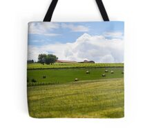 Rolling green hills with trees Photographed in Tuscany, Italy Tote Bag