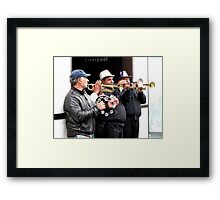 LIVERPOOL BUSKERS Framed Print
