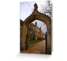 Lacock Abbey, Entrance Arch Greeting Card
