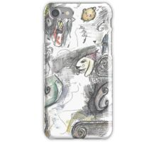 Story of the bunny party. iPhone Case/Skin