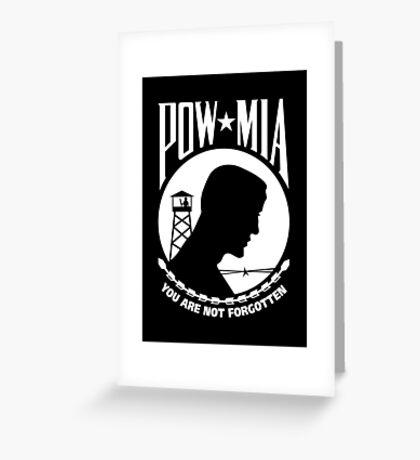 POW MIA Greeting Card