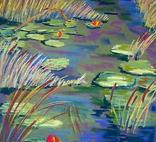 Waterlilies, Signature Piece, 2006 Exhibits. by Jack Bybee