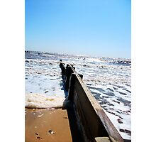 A Vision Down The Groyne! Photographic Print