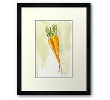Crunchy orange powerfood Framed Print
