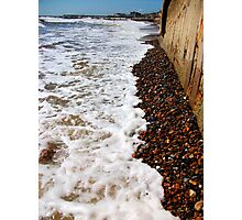 Waves By The Sea Wall! Photographic Print