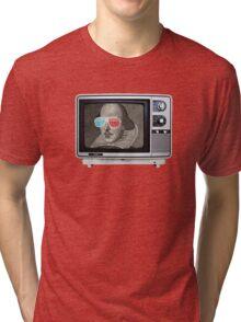 Shakespeare 3D T.V. Tri-blend T-Shirt