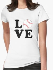 Love Baseball Womens Fitted T-Shirt