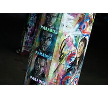 Colourful graffiti, London South Bank Photographic Print