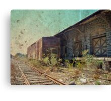 Disappearing Railroad Blues Canvas Print