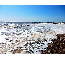 A Vision Of Waves On Lowestoft Beach! Photographic Print