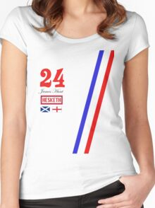 Hesketh Racing James Hunt 24 formula 1 Women's Fitted Scoop T-Shirt