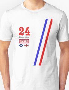Hesketh Racing James Hunt 24 formula 1 T-Shirt
