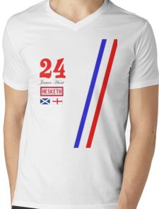 Hesketh Racing James Hunt 24 formula 1 Mens V-Neck T-Shirt