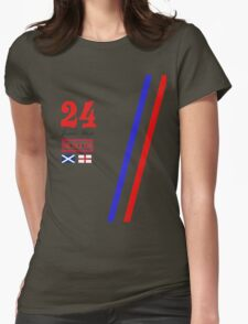 Hesketh Racing James Hunt 24 formula 1 Womens Fitted T-Shirt