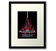 IRON-TRON Framed Print
