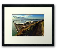 Dover Docks from the White Cliffs Framed Print