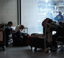 Charles de gaulle airport by Barry Elkins