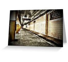 NYC Subway - Long Island City Greeting Card