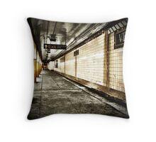 NYC Subway - Long Island City Throw Pillow