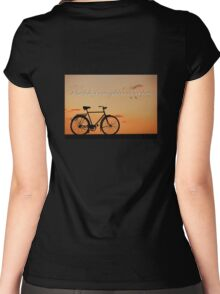 Melancholy is incompatible with bicycling.  Women's Fitted Scoop T-Shirt