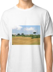 Rolling green hills with trees Photographed in Tuscany, Italy Classic T-Shirt