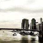 Brooklyn Bridge from Manhattan Bridge by ARPunk