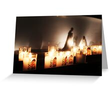 Candle light vigil Greeting Card