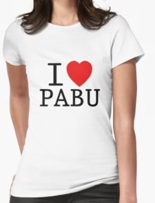 I <3 PABU Womens Fitted T-Shirt