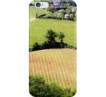 Rolling green hills with trees Photographed in Tuscany, Italy iPhone Case/Skin