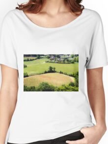 Rolling green hills with trees Photographed in Tuscany, Italy Women's Relaxed Fit T-Shirt