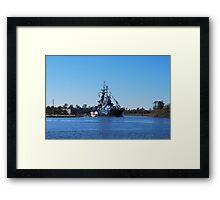 USSNC Battleship Framed Print