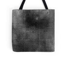 Watercolor Abstraction: Black and White Grid Texture Tote Bag