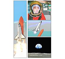 space comic Photographic Print